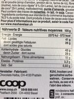 Coconut choco vegan - Informazioni nutrizionali - fr