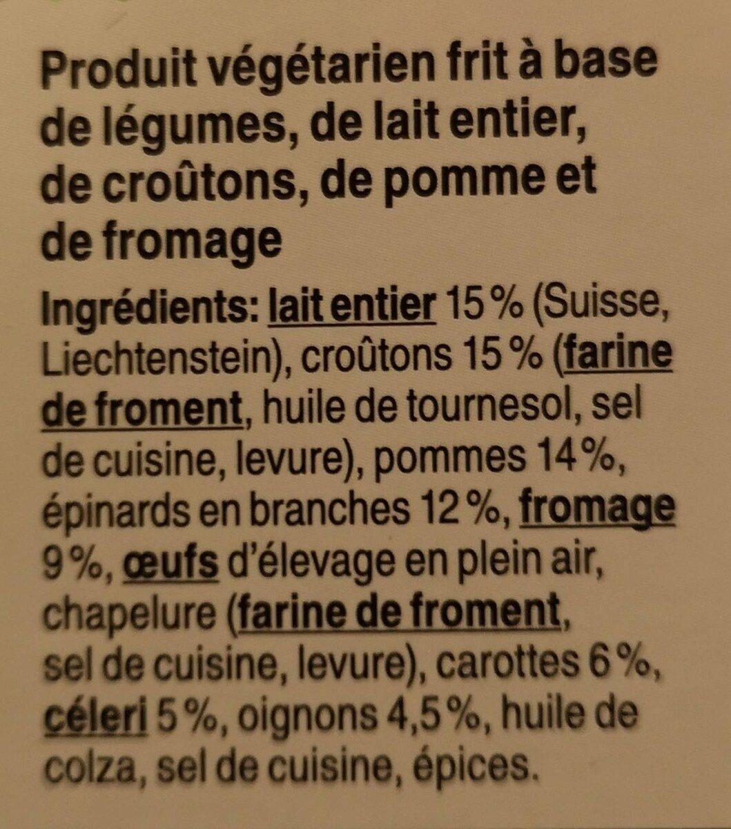Chalet Burger - Ingredienti - fr