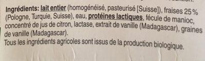 Jogurt Fraise-vanille - Ingredients