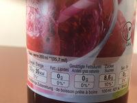 Sirop de Framboise - Valori nutrizionali - fr