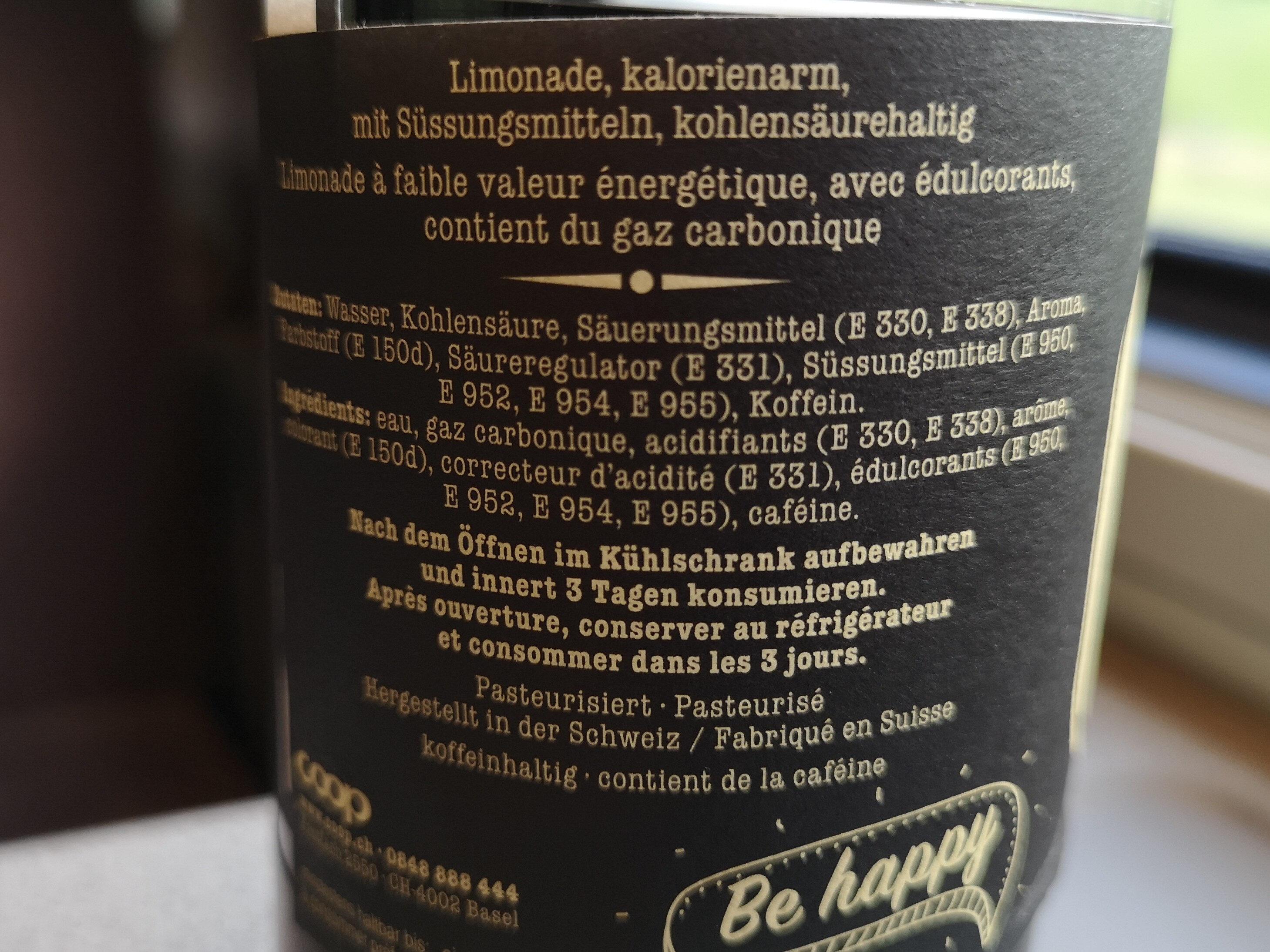 Happy Cola Zéro - Valori nutrizionali - fr