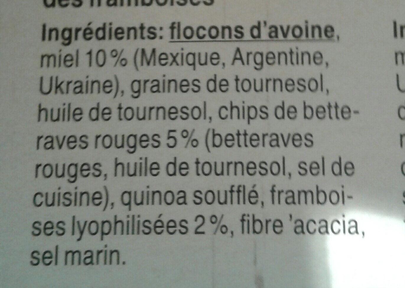 Beet & berry Granola - Ingredients - fr
