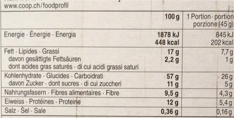 Beet & berry Granola - Informations nutritionnelles - fr