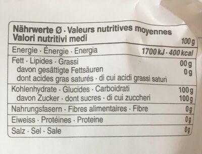 Sucre - Voedingswaarden - fr