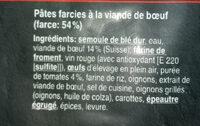 RAVIOLI AL BRASATO - Ingredients