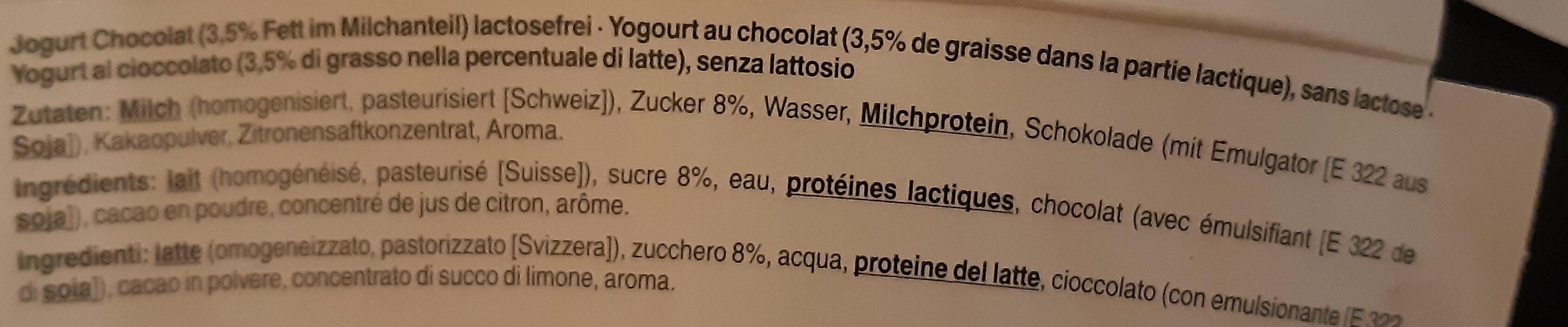 Jogurt chocolat - Ingredients - fr