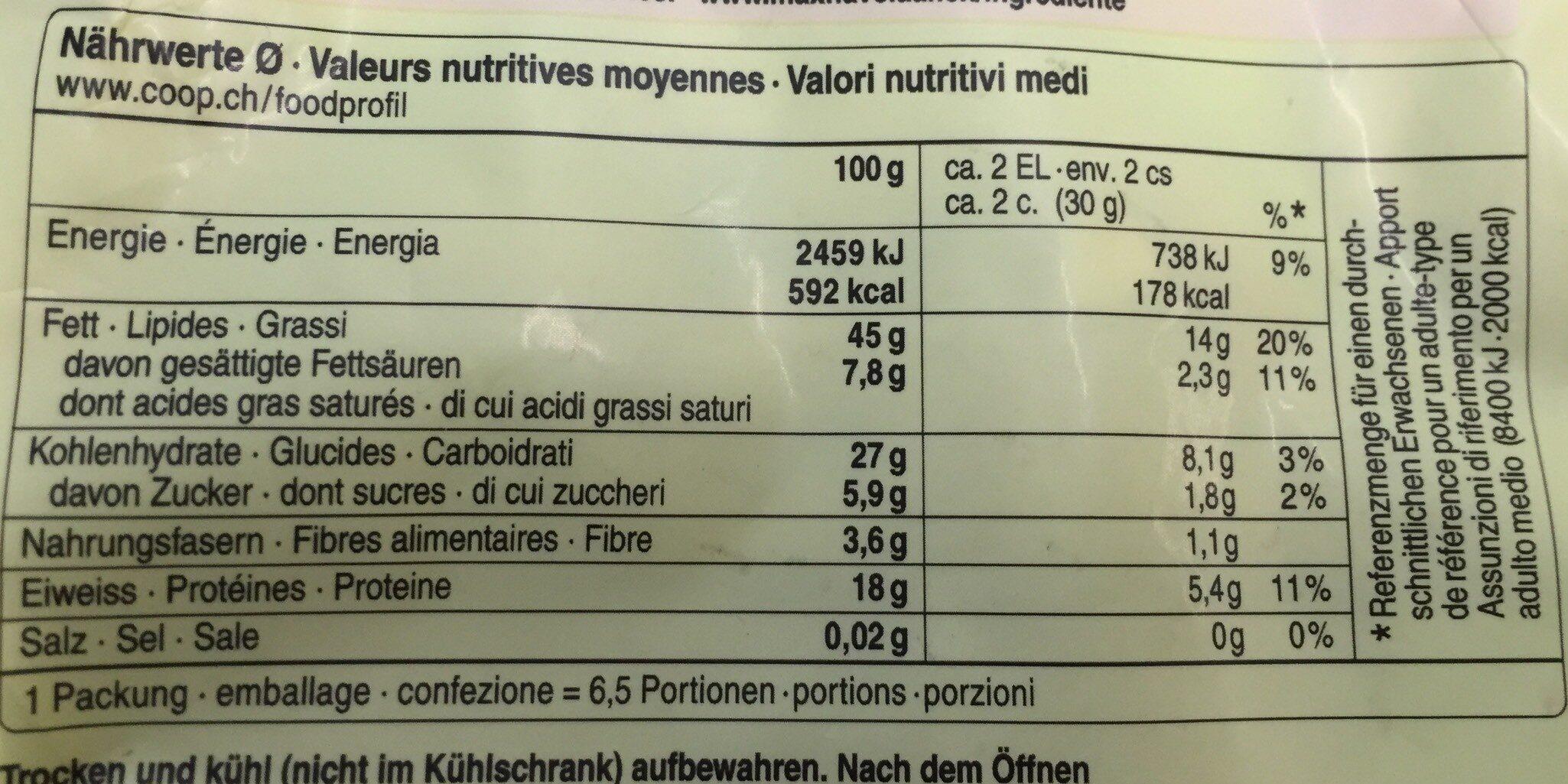 Noix de cajou entières - Valori nutrizionali - fr