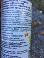 Bio frui'tea orange minze - Valori nutrizionali - fr