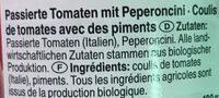 Passata Arrabiata - Ingredients - fr