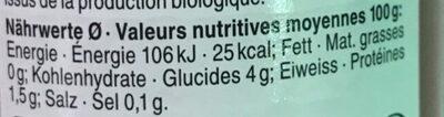 Passata Arrabiata - Nutrition facts - fr