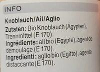 Ail en granulés - Valori nutrizionali - fr