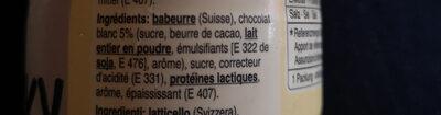 Milky white chocolate - Ingrediënten - fr