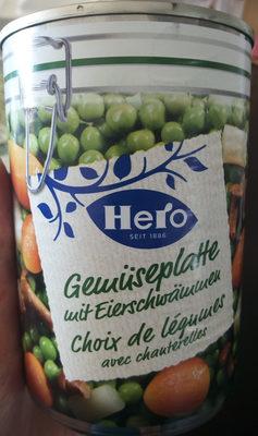 Choix de legumes avec chauterelles - Prodotto