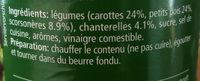 Choix de legumes avec chauterelles - Ingredienti - fr