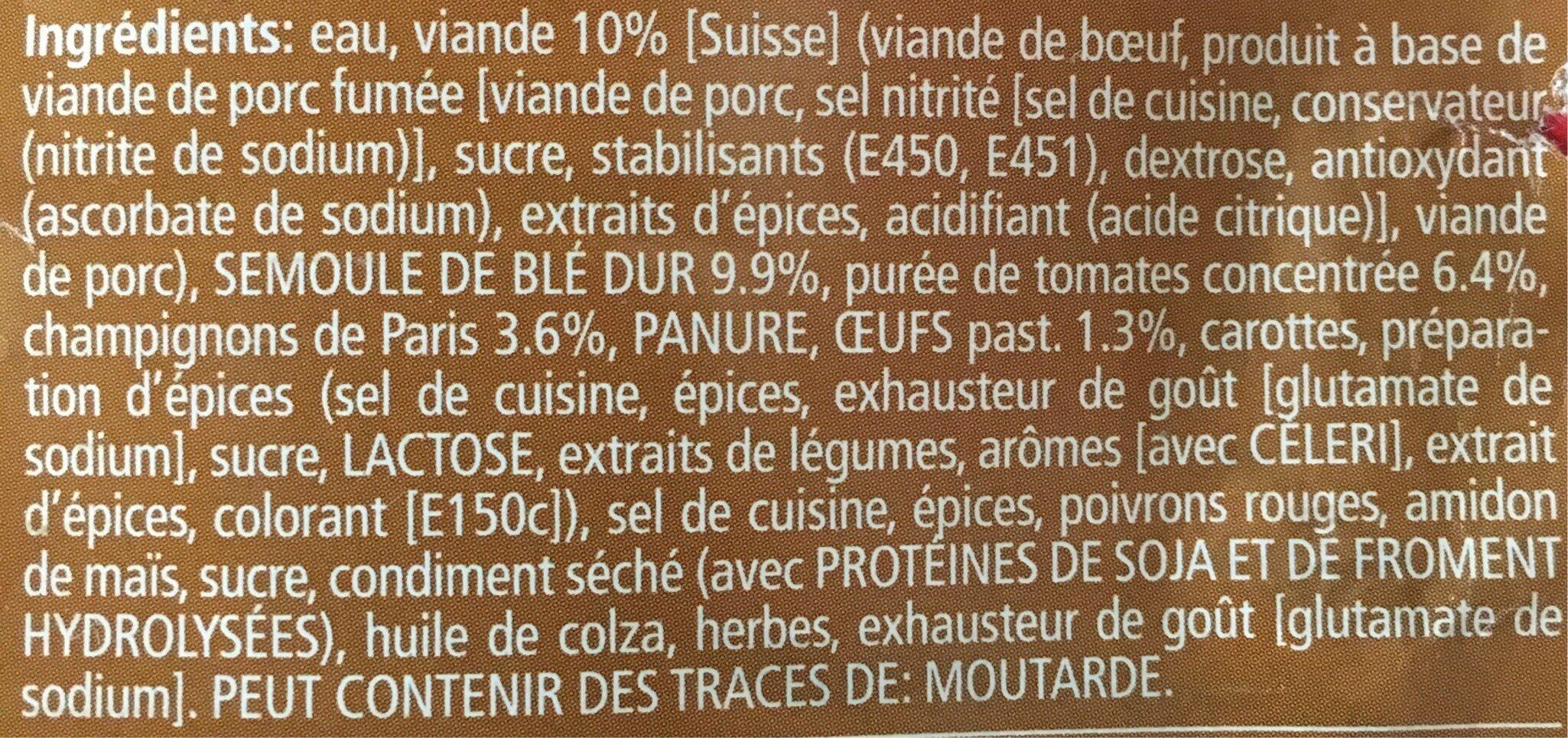 Triangoli - Ingredienti - fr