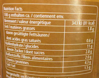 Triangoli - Valori nutrizionali - fr