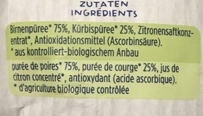 Little Smoothie Poire et Courge - Ingrediënten