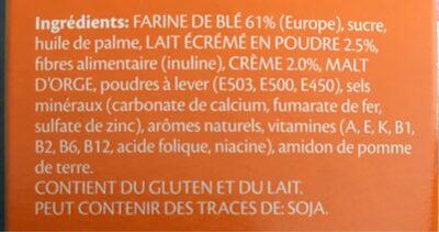 Galactina Plasmon au lait - Ingredients - fr