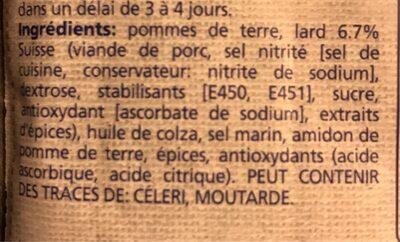 Berner Rösti - Ingredients