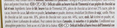 Sablés au chocolat au beurre frais de la vallée de l'Emmental - Ingrediënten - fr