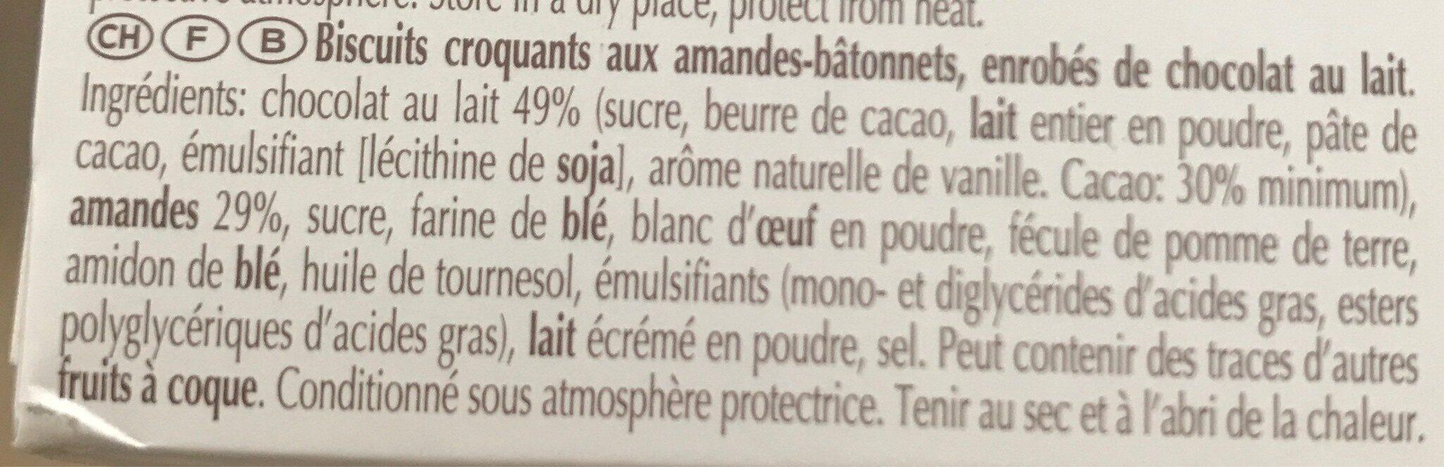 Rocher aux amandes - Ingrediënten - fr