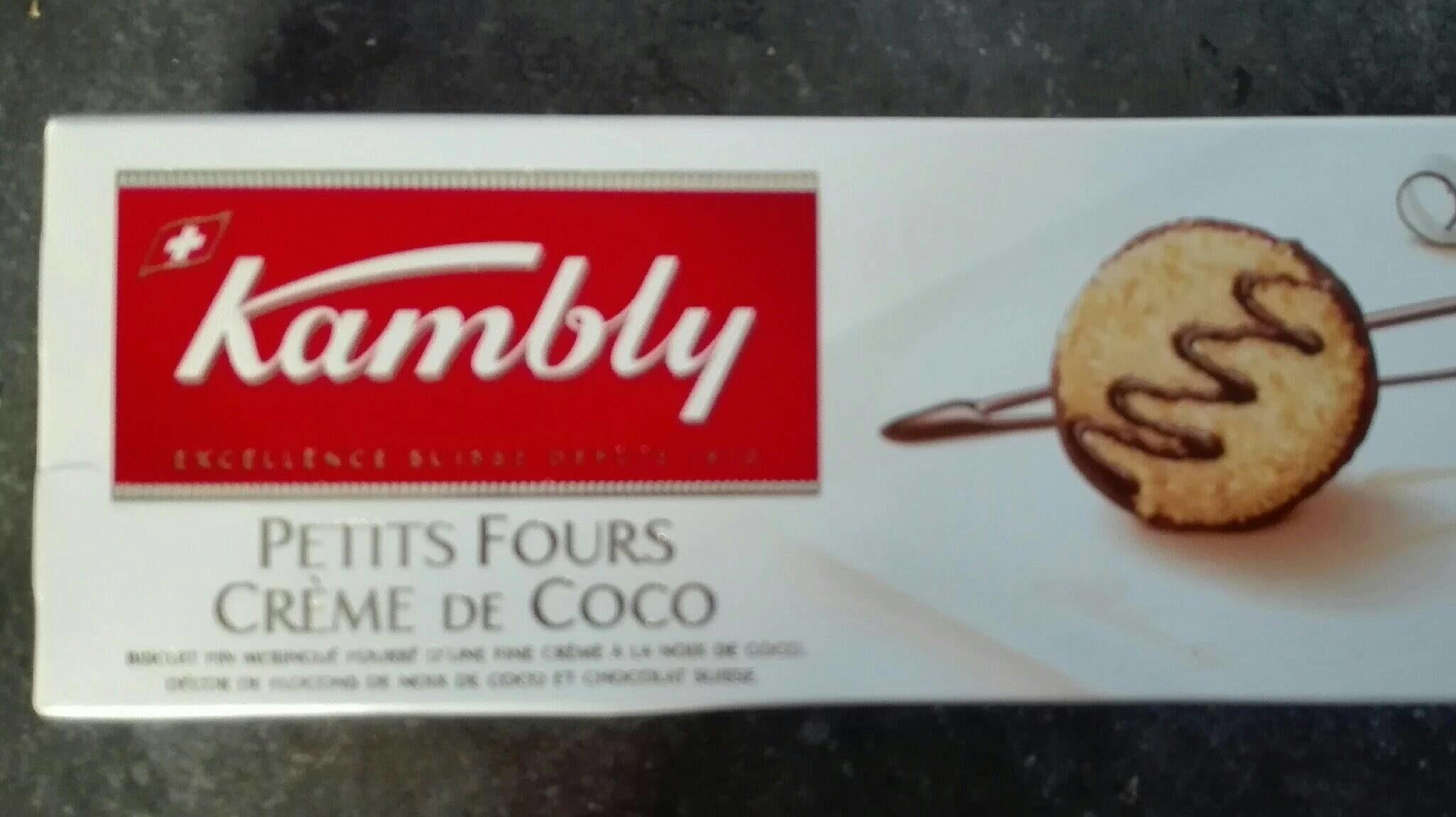 Petits fours crème de coco - Product
