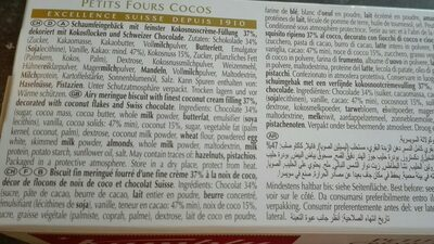 Petits fours crème de coco - Ingrediënten