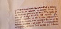 Apéristick pomme de terre et romarin - Ingredients - fr