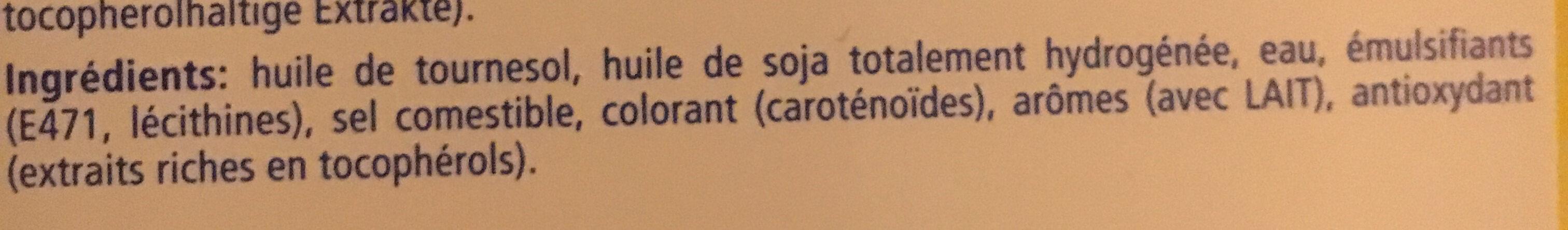 Crème D'huile Végétale Spécial Sais 50cl, 1 Bouteille - Ingredients
