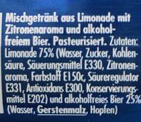 Bilz Panaché sans alcool - Ingredients