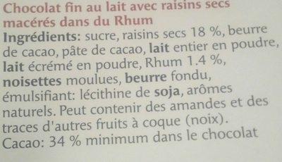 Rubaba - Ingredients