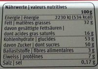 Chocolat Tourist - Informations nutritionnelles - fr
