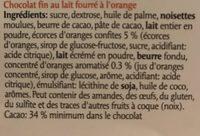 Les Délices Crème à L'orange - Inhaltsstoffe - fr