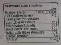 Les Délices Crème à L'orange - Nährwertangaben - fr