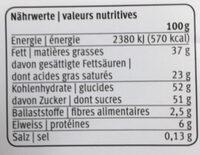 Les Adorables Frelitta Chocolat au lait fourré aux noisettes - Voedingswaarden - fr