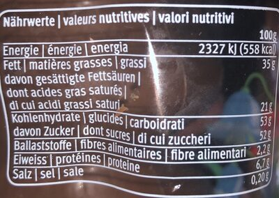 Pasqualino - Nutrition facts - fr