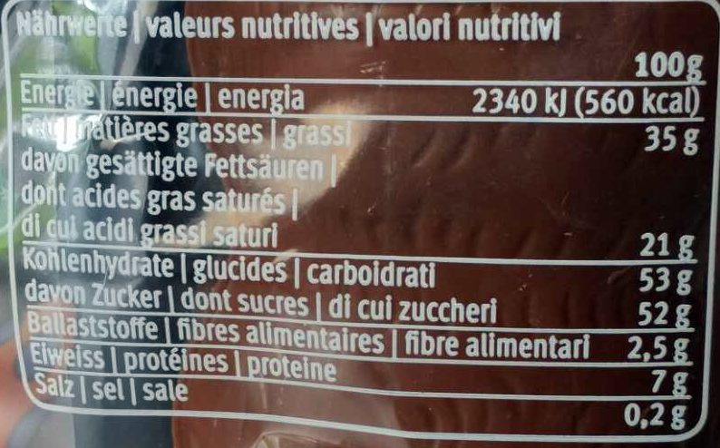 Lampino - Nutrition facts