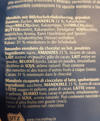 Les dragées amande - Ingredients