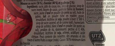 Kisss party dark - Mousse au sucre, chocolat et gaufrette - Ingredienti - fr
