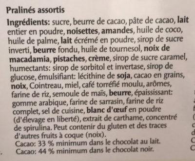 Prestige Chocolat Créations Exquises Des Chocolatiers Suisses - Ingrédients - fr