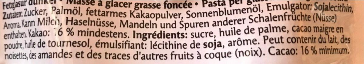 Glaçage foncé - Ingrediënten - fr