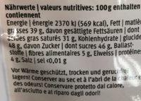Glaçage foncé - Voedingswaarden - fr