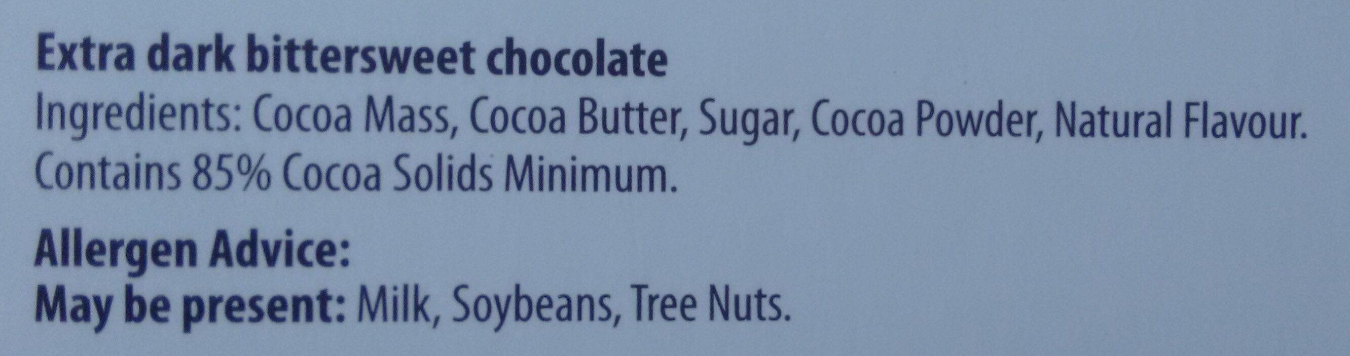 Extra Dark 85% Chocolate - Ingredients - en
