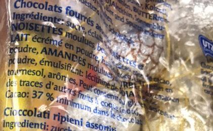 Chocolat au Lait Mini/assortis - Ingrediënten - fr