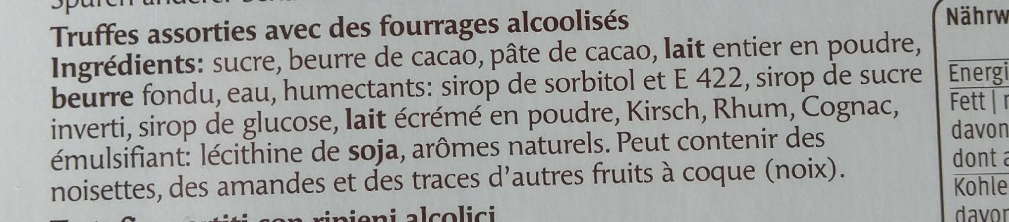 Truffes assorties - Ingredienti - fr