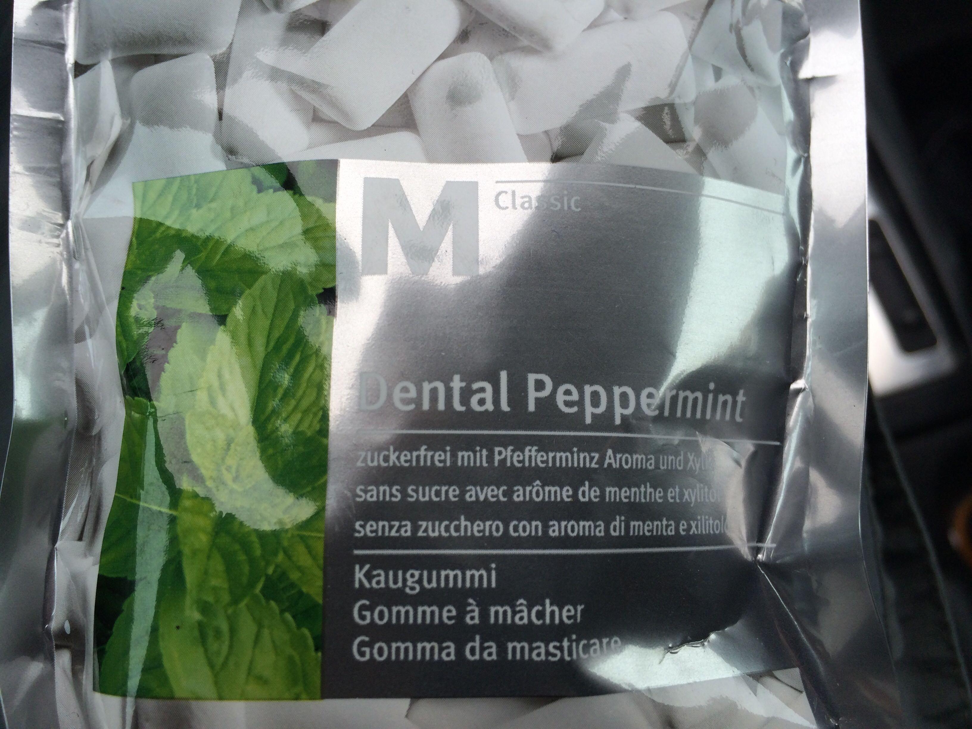Dental Peppermint Gomme à mâcher sans sucre - Produit - fr