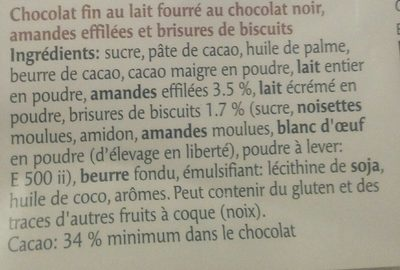 Les Délices Brownie - Ingredients