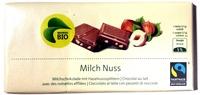 Chocolat Lait Noisettes Migros Bio - Product