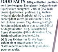 Chocolat Lait Noisettes Migros Bio - Voedigswaarden