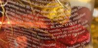 Chocolat noir fourré fondant sucré - Ingredients - fr